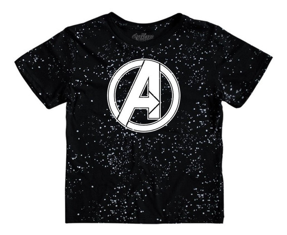 Playera Mascara De Latex Avengers Space Logo Niño Endgame