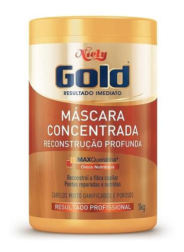 Niely Gold Hidratação Profunda  Reconstrução Profunda 1kg