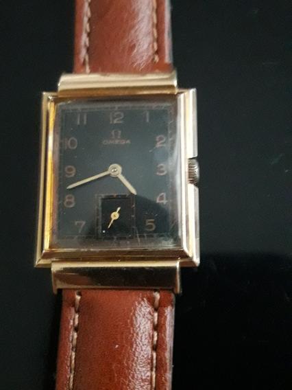 Relógio Omega Manual Art Deco Caixa Ouro 750, Raro Modelo.