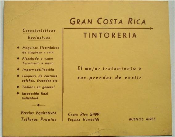 Tintorería Gran Costa Rica Vieja Tarjeta Comercial