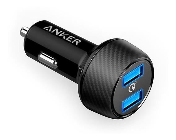 Carregador Veicular Anker 2 Portas Usb Qc 3.0 - Preto