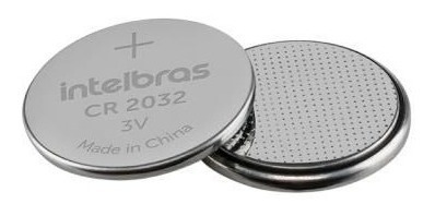 Cartela Com 5 Bateria De Lítio 3v Cr 2032 Intelbras