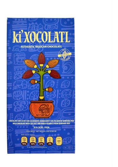 Ki Xocolatl Azul 50% Cacao Sal Y Cacahuate, Natural,orgánico
