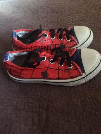 Zapatillas Jaguar Personalizadas Spiderman 30