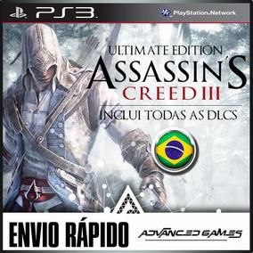 Assassins Creed 3 Iii + Todas As Dlcs Ptbr - Jogos Ps3 Psn