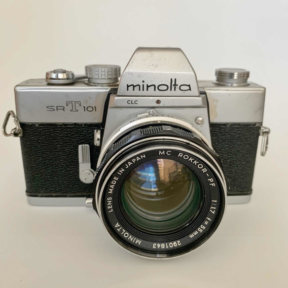 Minolta Srt 101 Câmera Analógica Lente 1.7 55 Mm
