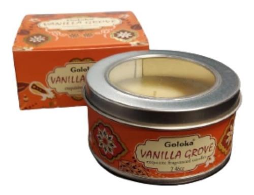 Imagem 1 de 4 de Vela Aromatica Indiana Goloka Duração De 6 Horas Vanilha