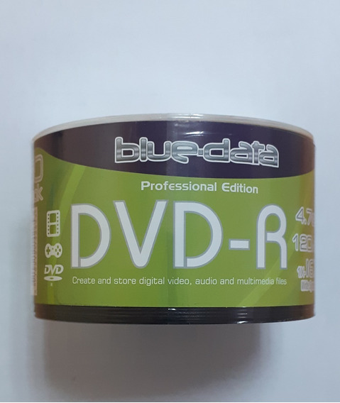 Dvd-r Virgen Blue-data 4.7gb 120min 16x Paquete X 50 Discos
