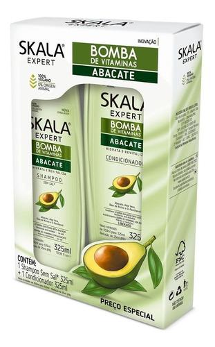 Kit Skala Shampoo Y Acondicionador Sin Sal Abacate