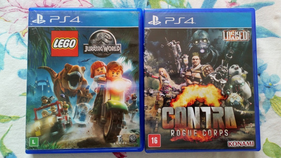 Lego Jurassic World + Contra Rogue Corps Ps4