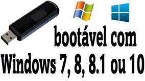 Pen Drive Bootavel (16gb) Win 7, 8, 8.1 Ou 10