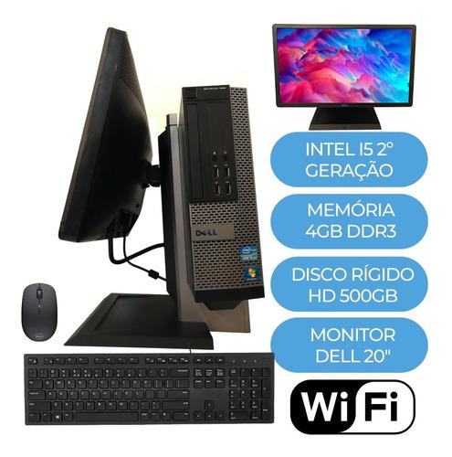 Imagem 1 de 8 de Pc/cpu /computador Dell Completo + Monitor 20'' + Suporte