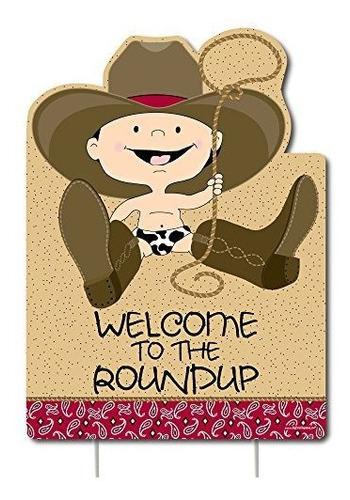 Imagen 1 de 7 de Cowboy  Decoraciones Occidentales  Fiesta De Cumpleaños O El