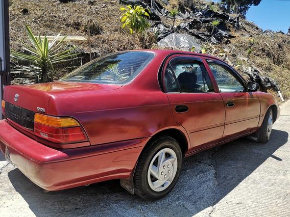 Toyota Corolla 1993 Rojo Vino