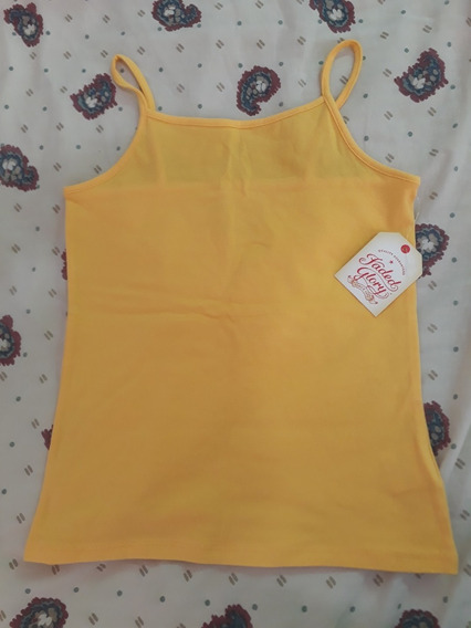 Super Oferta - Musculosa Amarilla Fadedglory Importada M 7-8