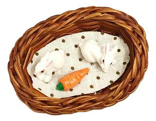 Juegos De Conejos Zanahoria Nido Miniatura Para Casa De