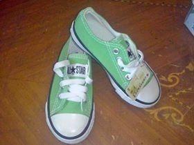 Zapato Marca Converse Color Verde Talla 24.