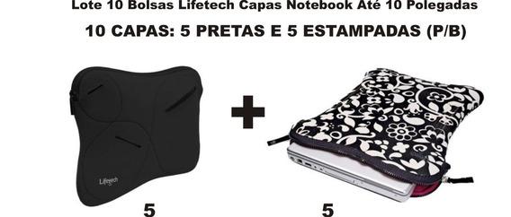 Lote 10 Bolsas P/b Lifetech Capas Notebook Até 10 Polegadas