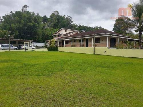 Chácara Com Piscina, Com 6 Dormitórios À Venda, 7800 M² Por R$ 1.300.000 - Parque Serra Mar - Peruíbe/sp - Ch0149