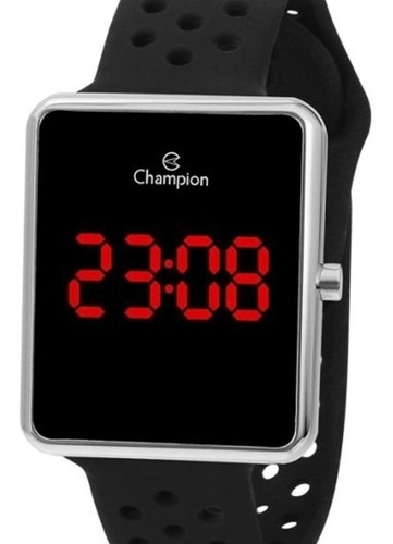 Relógio Feminino Prata Champion Digital Pulseira Silicone