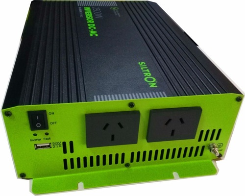 Imagen 1 de 6 de Conversor Inversor Siltron 2500w 24v A 220v Usb O Modificada
