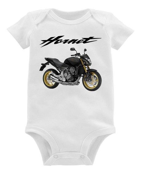 Body Bebê Moto Honda Cb 600 Hornet 2013 Preta