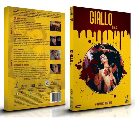 Dvd Giallo Vol 7 - Ed Limitada Com 4 Cards 2 Discos 4 Filmes