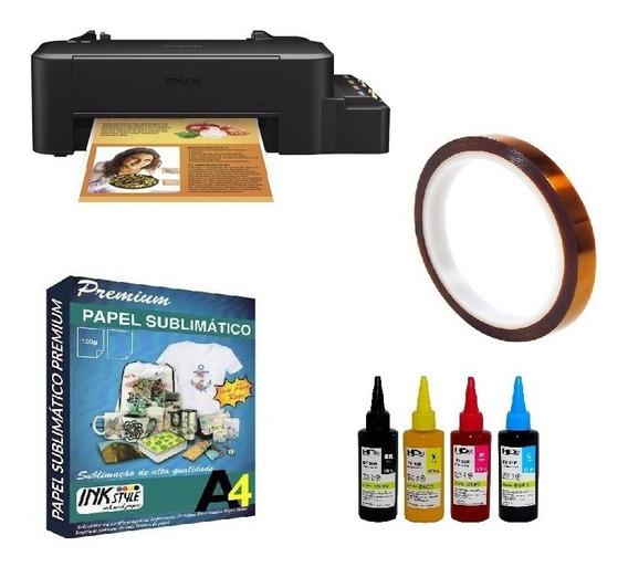 Impressora L120 A4 100 Folhas + 4 X 100ml Sublimatica + Fita