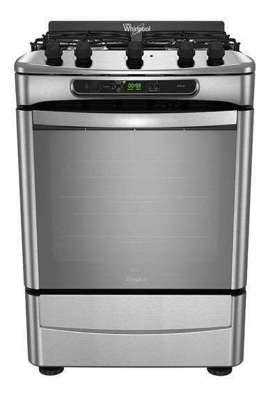 Cocina Whirlpool WF560XT 4 hornallas multigas acero inoxidable 220V puerta visor 71.1L