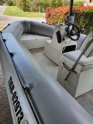 Semirrigido Sail Master Motor Johnson 50  Eslora 4.50 Mts