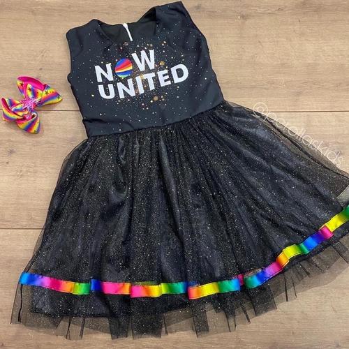 Vestido Now United Infantil Preto
