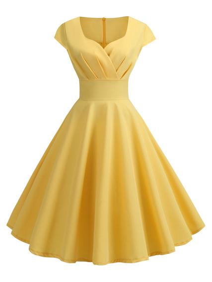 Vestido De Fiesta Informal Estilo Vintage Para Mujer M-2xl