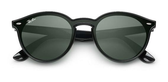 Óculos De Sol Ray Ban Blaze Round Rb4380 Preto G-15 Original