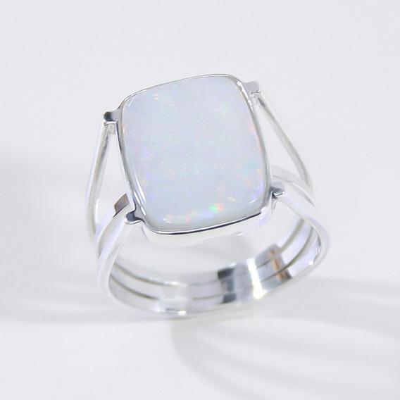 Anel Pedra De Opala Natural