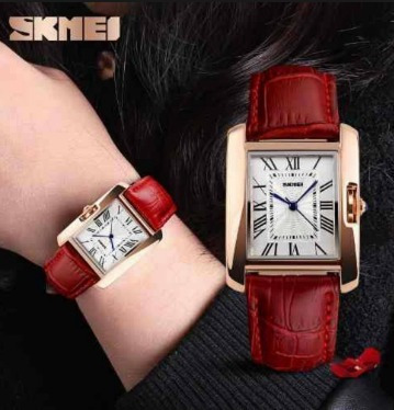 Relógio Feminino Skmei Pulseira Em Couro Promoção