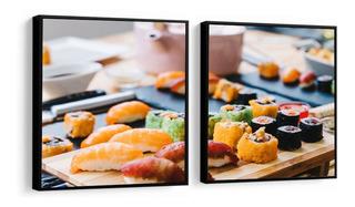 Quadro Decorativo Comida Japonesa Sushi Restaurante Decor