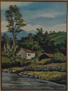 Elio Hahnemann , Santa Catarina , Oleo Sobre Tela ,40x30cm !