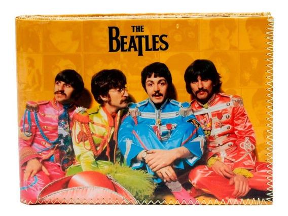 Billetera Beatles Musica Tarjetero Diseño Pop Rock