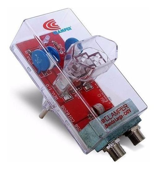Protetor Anti Raios Clamper Energia + Cabo Tv