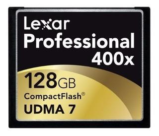 Cartão Memória Lexar Compact Flash Professional 128gb 400x