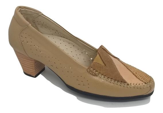 Zapato Dama Vestir Combinado