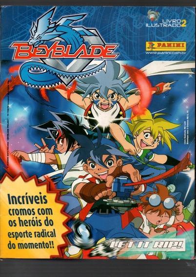Álbum De Figurinha Beyblade 2 Incompleto