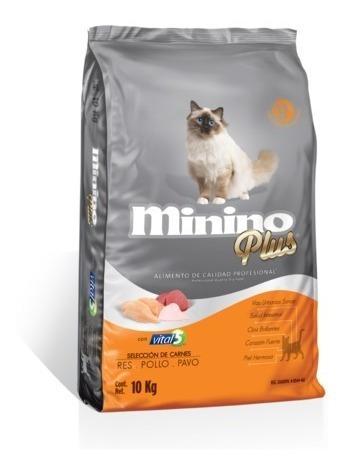 Minino Plus 10kg Croqueta Alimento Gato Adulto Calidad Profe