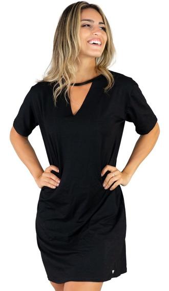 Kit 3 Vestido Camiseta Feminino Chocker Longline Camisão 289