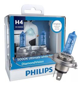 ( 100% Original ) Philips Diamond Vision 5000k H4 Promoção