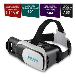 Óculos Realidade Virtual Warrior Vr Glasses Js080 Multilaser