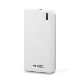 Bateria Externa Argom Tech 6000 Mah Blanco + Envío Gratis