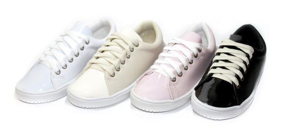 Kit Com 4 Pares Tenís Femininos Lançamentos Comfort Shoes