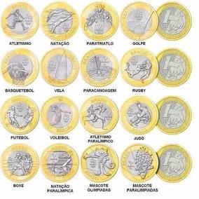 Moedas Olímpicas - Complete Sua Coleção - Lote 5 Moedas