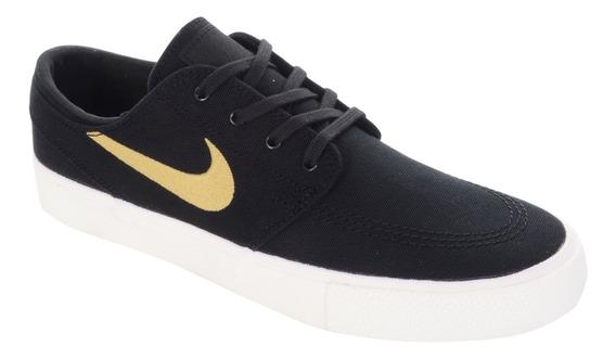 Tênis Nike Sb Zoom Janoski Cnvs Rm Preto E Gold